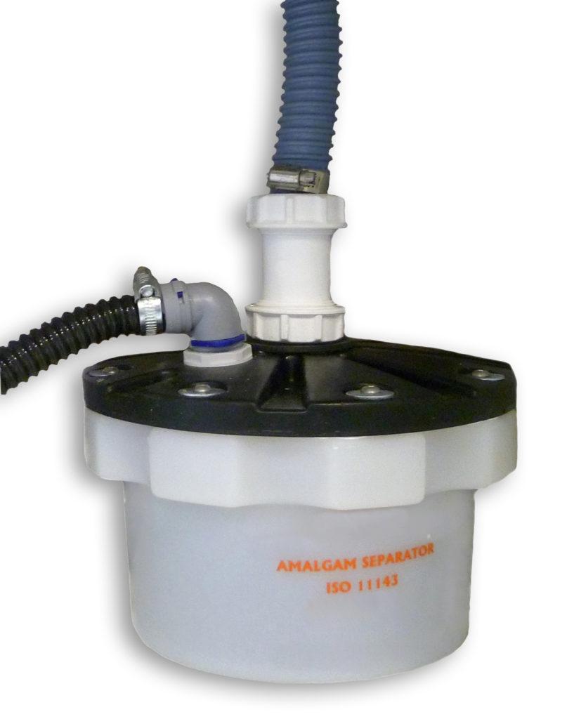 separator amalgamatu sedymentacyjno-filtracyjny, pod zlew